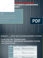 262132030 Restaurant Management System