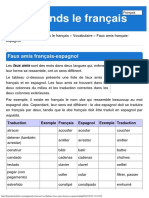 Faux Amis Français-espagnol