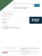 Georges A. Legault (1993) - Compte rendu de Gilbert Hottois, Le paradigme bioéthique_Une éthique pour la technoscience