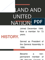THAILAND AND THE UNITED NATIONS