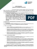 Instrucciones Primera Evaluacion 2018-19