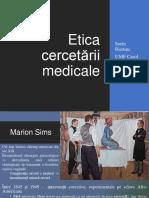 etica cercertarii medicale
