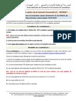 Concours Dadmission en Troisieme Annee s5 2019 2020