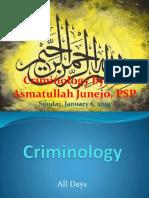 Complete Criminology notes for CSS by SSP Asmatullah Junejo