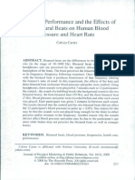 2008_Healthcare Performance and the Effects of the Binaural Beats on Human Blood Pressure and Heart Rate