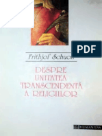 Frithjof Schuon - Despre unitatea transcendenta a religiilor.pdf