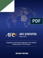 Afc Statutes 2019 Edition