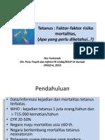 1. Dr. Nur Farhanah - SPEED Tetanus