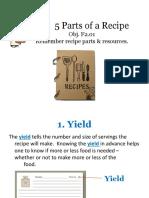 Recipe Powerpoint