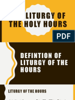 The Liturgy of the Holy Hours