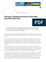 Omega 3 Supplementation and High Intensity Exercise _ Muscle & Strength