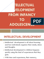 Intellectual Development From Infancy to Adolescence