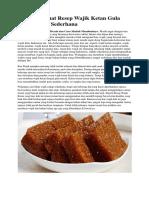 Cara Membuat Resep Wajik Ketan Gula Merah Enak Sederhana.docx