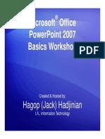 Microsoft Office PowerPoint 2007 Basics Workshop_Web