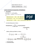 Notes on Preparation of Haloalkanes