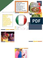 Folleto Word comida italiana