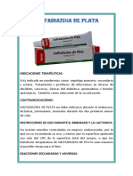 Sulfadiazina de Plata - MEDICAMENTO PARA QUEMADOS PDF