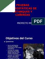 INSTRUCTIVO DE PRUEBAS DE CAÑERIA