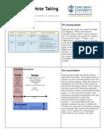 5 Methods of Note Taking