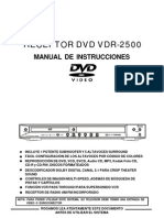 Manual Home Cinema Vieta VDR-2500