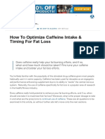 How to Optimize Caffeine Intake & Timing for Fat Loss _ Muscle & Strength