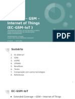 Apresentação Extended Coverage – GSM – Internet of Things (EC-GSM-IoT )