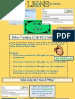 teller training portfolio