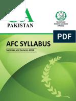 AFC Syllabus