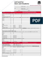 Policy Vaccination Record Card
