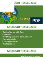 MS Excel 2010 by Jaeson Macarulay