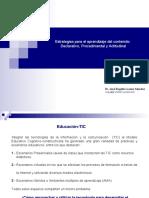 Estrategias de aprendizaje del contenido en Informática JRLS