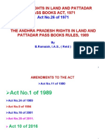 Rights in Land and Pattadar Pass Books Rules 1989