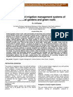 Fertigation and Irrigation Management Systems of Vertical Gardens and Green Roofs