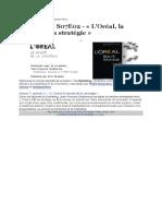 Article Marketing L'Oréal, La Beauté de La Stratégie