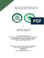 FYP Report Format