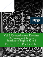 Vol 2 Comprehensive Enochian Dictionary and Lexicon Enochian to Englis