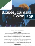 Manual de Asignación de Recursos de Fondo Filmación Colombia