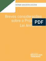 Guilherme Madeira Dezem - Breves Consideracões Projeto de Lei Anticrime