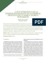 L20. La Dirección Estratégica de La Internacionalización de La Empresa