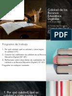 Calidad de Los Recursos Educativos Digitales