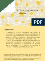 Análise Textual Discursiva Síntese