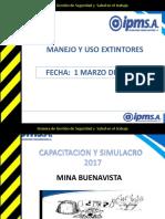 CAPACITACIÓN USO Y MANTENIMIENTO  DE EXTINTORES