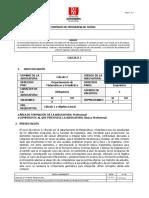 Formato SIGED Programa de Cálculo 2 Ingenierías 2019