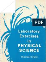 Lab Exercises in Physical Science - Thomas Kimler - 1971