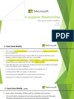 Buyer-Supplier Relationship Group 3 Microsoft