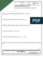 Avaliação de Matematica Violeta 2b e 3b