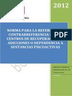 Norma Para La Referencia y Contrareferencia de Los Centros de Recuperación de Adicciones