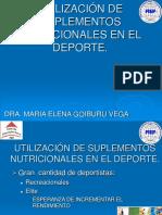Utilización de Suplementos Nutricionales en El Deporte