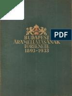 Budapest áramellátásának története 1893-1933