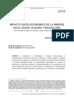 Tesis sobre impactos de la minería en el norte de colombia